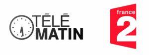 logo de télématin france 2 liant la maison d'hôtes les hauts de saulies